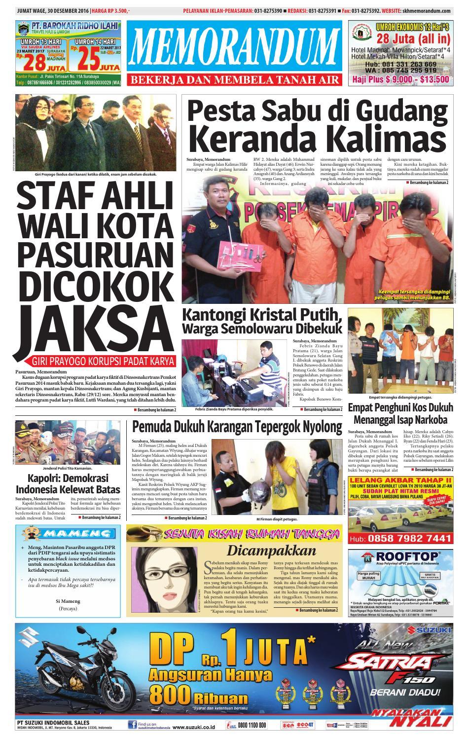 memorandum edisi 30 desember 2016 by memorandum issuu