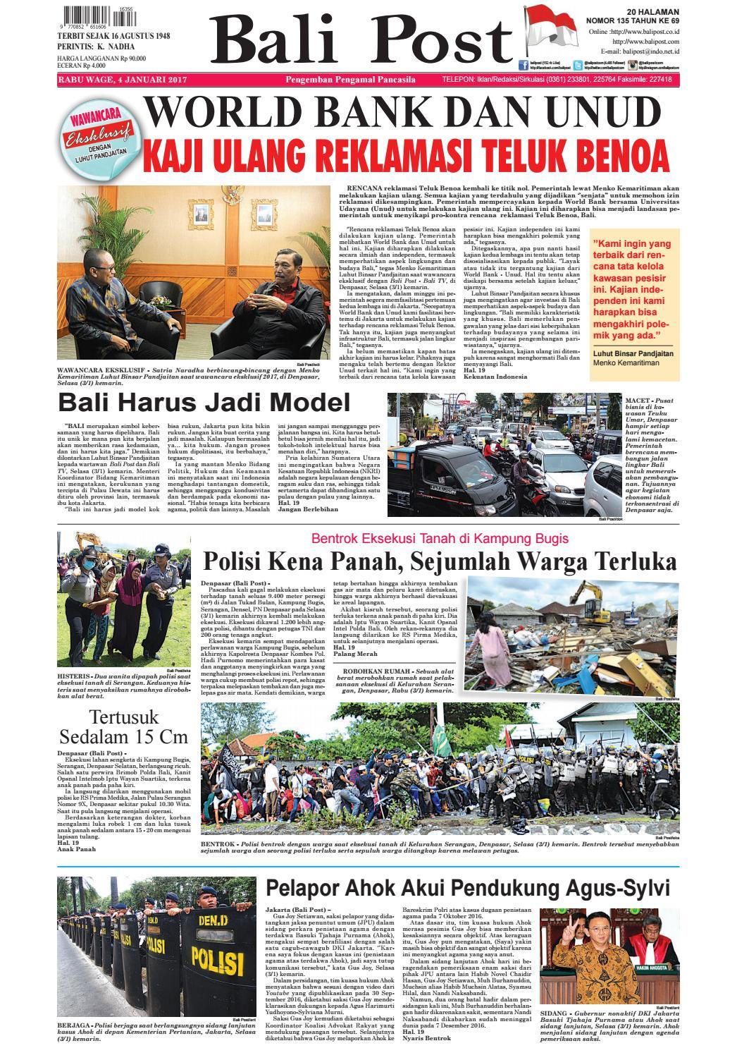 Edisi 04 Januari 2017 Balipost Com By E Paper Kmb Issuu