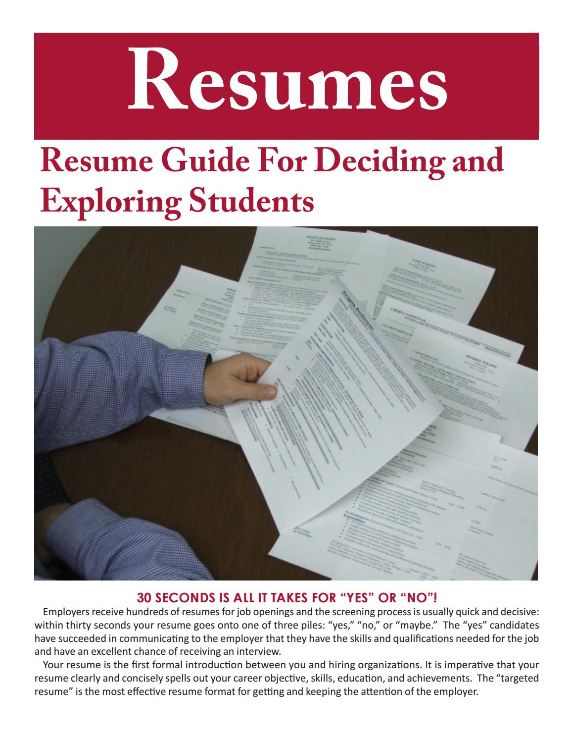 alumni resume writing guide