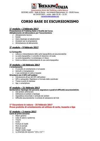 Corso base escursionismo 2017 by Trekking Italia Roma - issuu 279dcc55de1