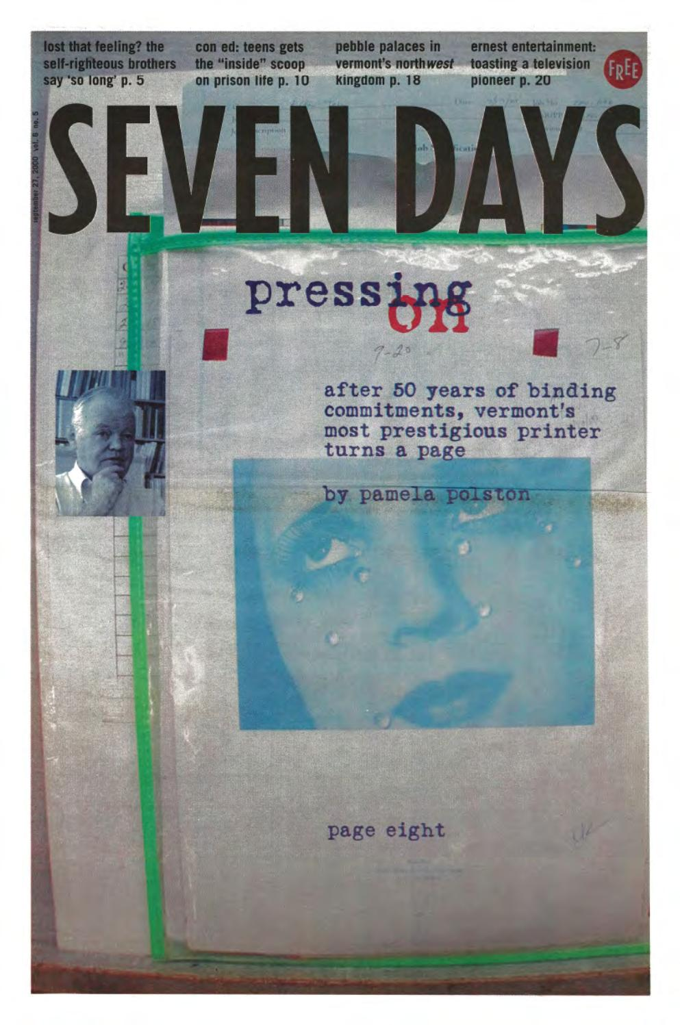 Seven Days, September 27, 2000 by Seven Days - issuu