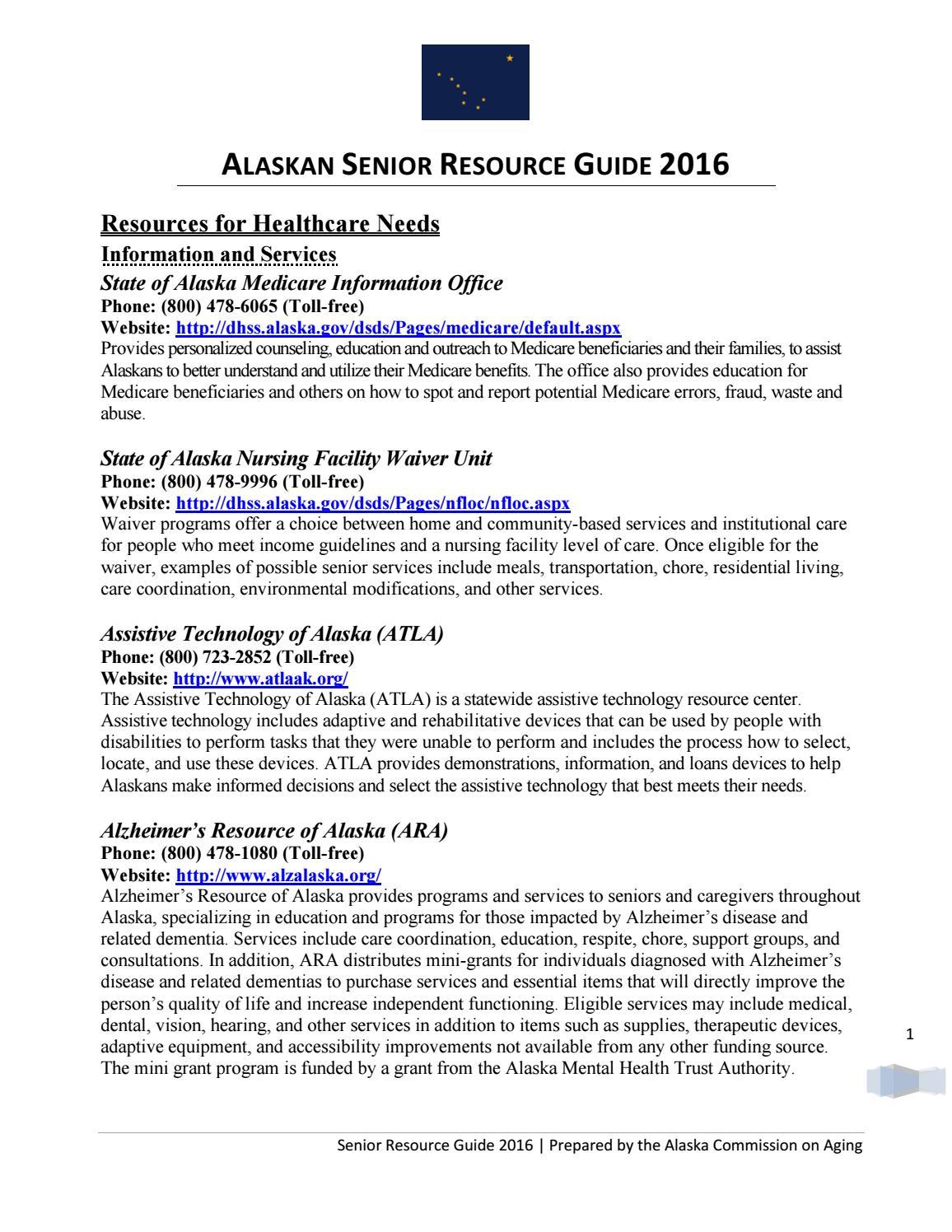 Ak_senior_resource_guide_2016 5 Months Ago Linksadrcwasilla How To Apply  Senior Center Assistance Programs_thumbg