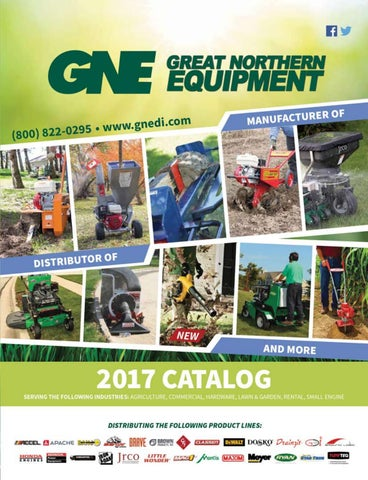 GNE 2017 Regional Catalog by Great Northern Equipment