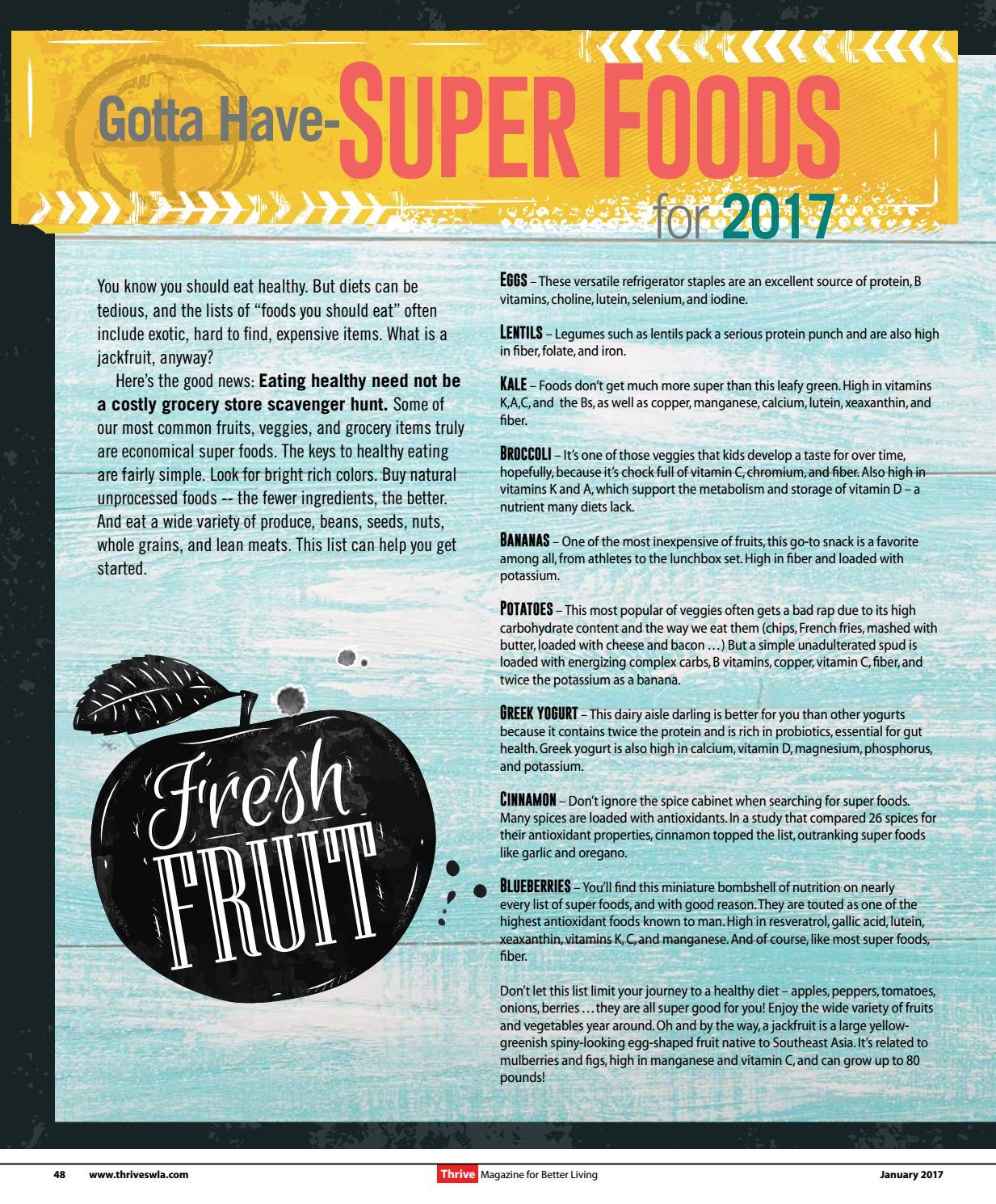 Thrive Magazine January 2017 Issue by Thrive Magazine - issuu