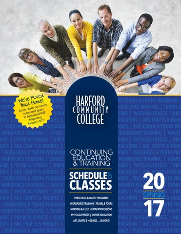 HCC CET Schedule of Classes - Spring 2017 by Harford Community ... 78d07afabea