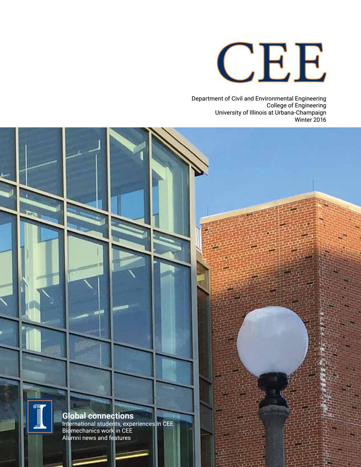 CEE Magazine Winter 2016 by Department of Civil and Environmental ... 05e8e59b1cb