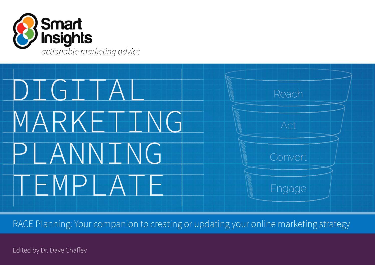 Digital Marketing Plan Template Smart Insights By Dani Hasan Issuu - How to create a marketing plan template