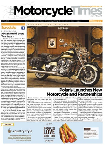 The Motorcycle Times - April 2016