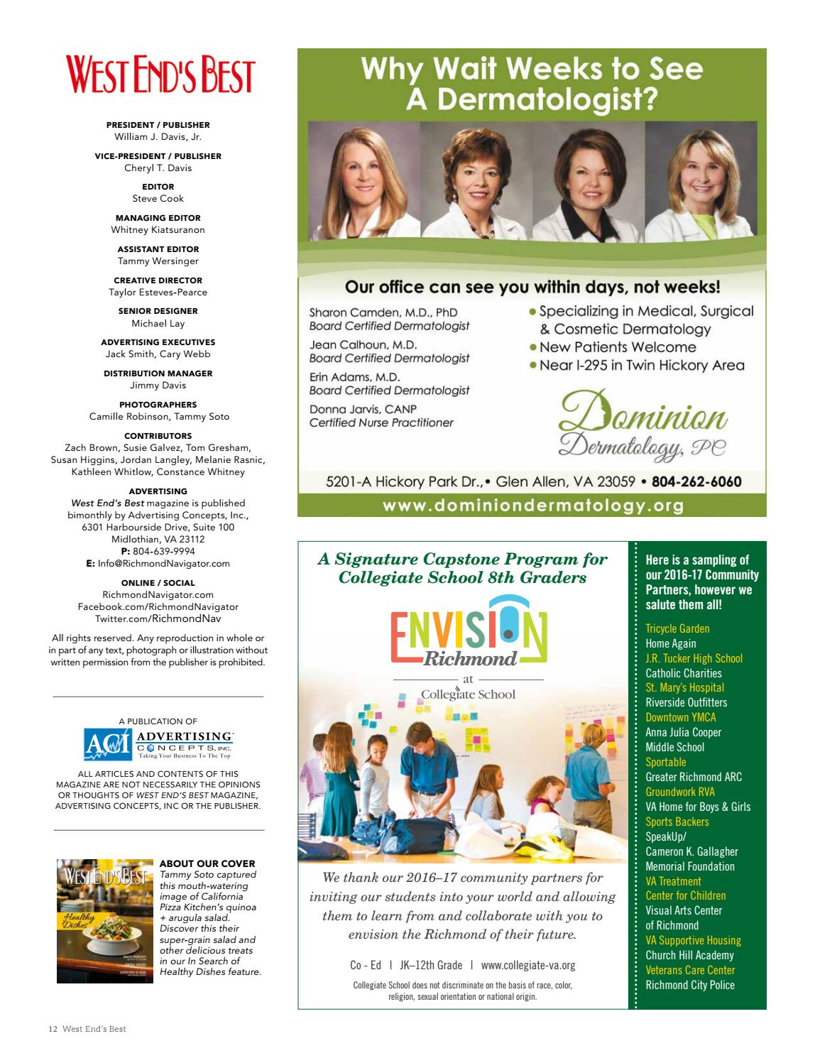 Jan/Feb 2017 West End\'s Best by Advertising Concepts, Inc. - issuu