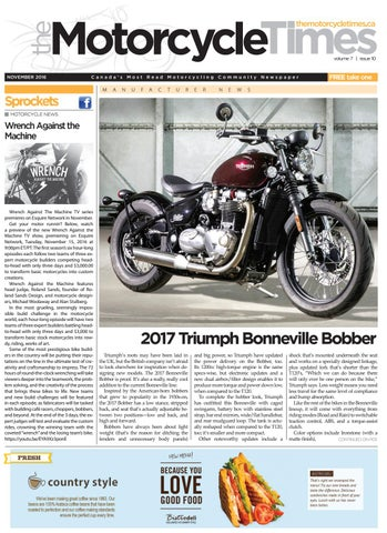 The Motorcycle Times November 2016 By The Motorcycle Times Issuu