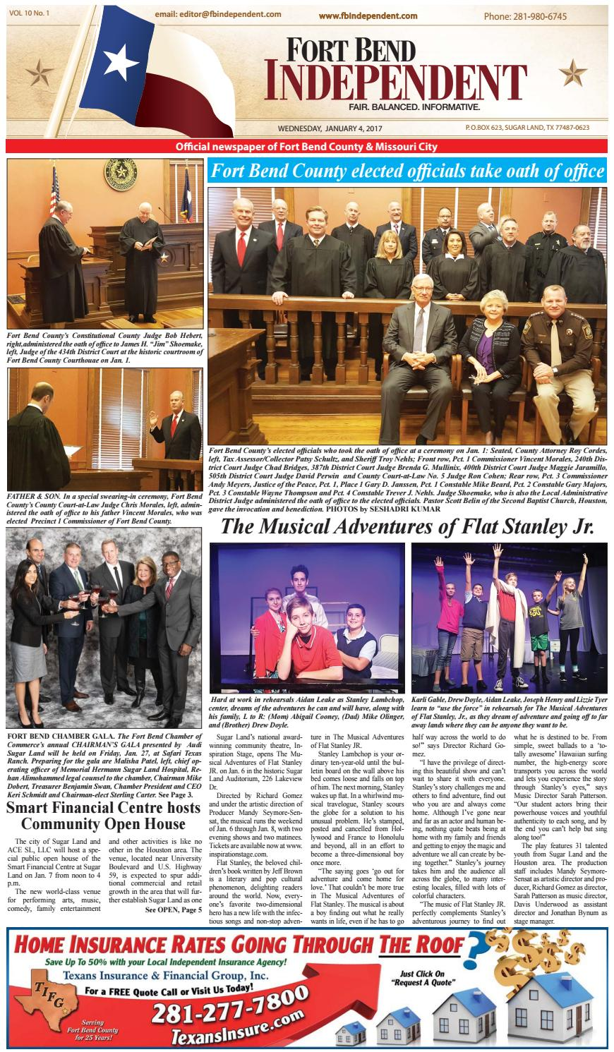 Fort Bend Independent 010417 By Fort Bend Independent Issuu