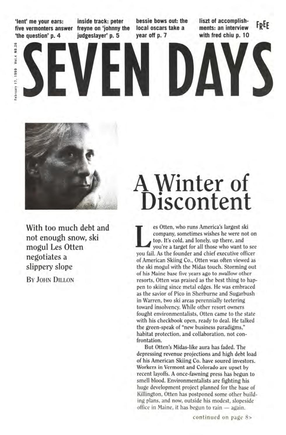 Seven Days, February 17, 1999 by Seven Days - issuu