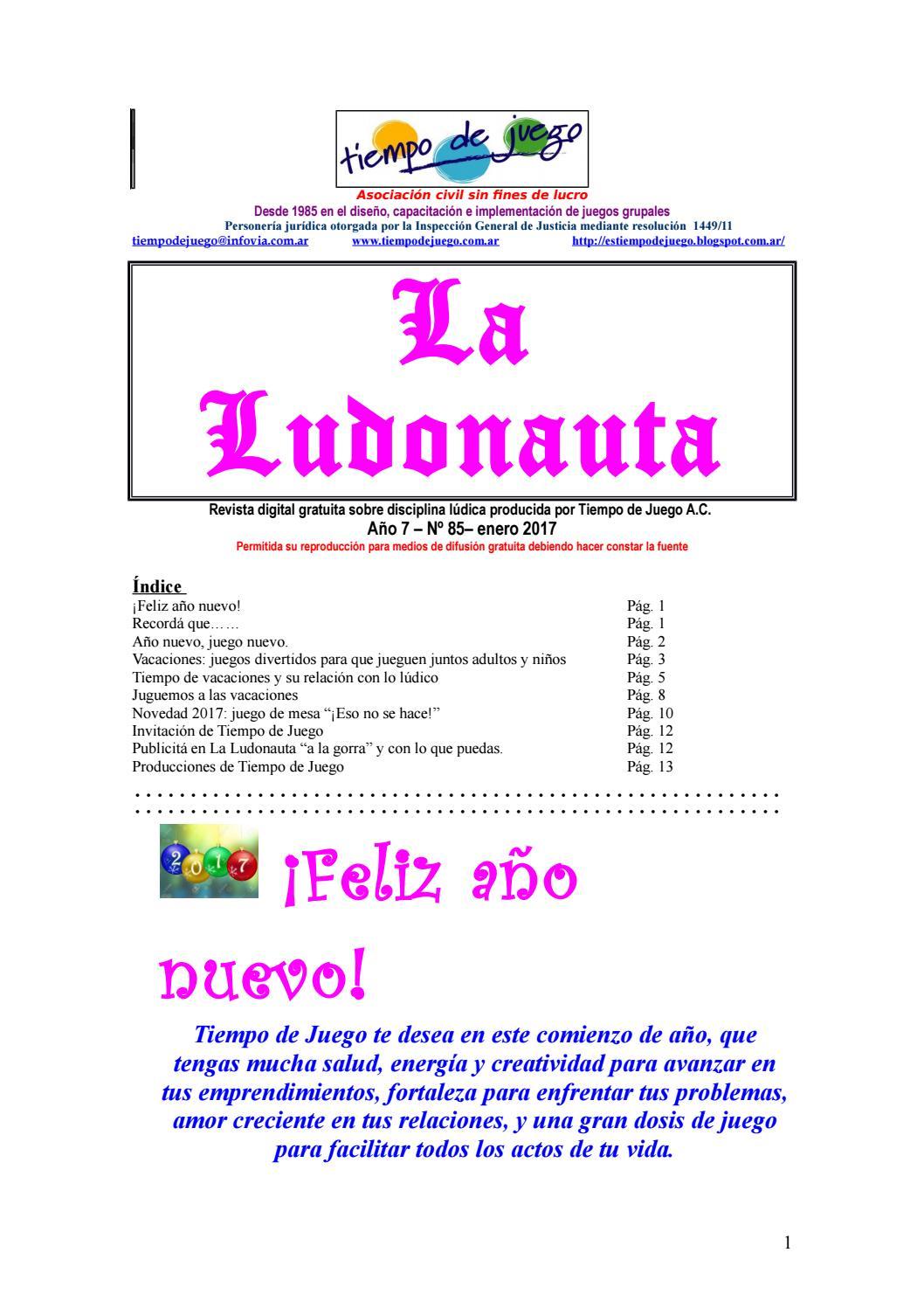 Revista La Ludonauta Enero 2017 468 By Tiempo De Juego Asociacion