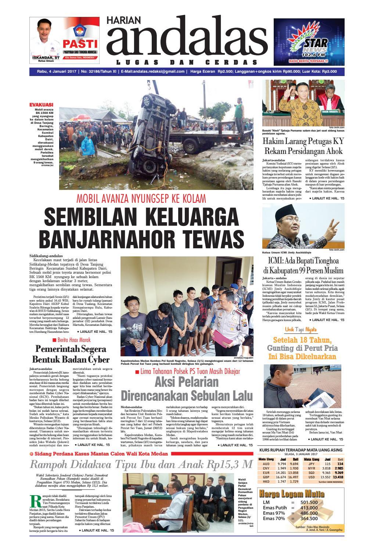 Epaper Andalas Edisi Rabu 4 Januari 2017 By Media Issuu Produk Ukm Bumn Tas Ransel Threepoint