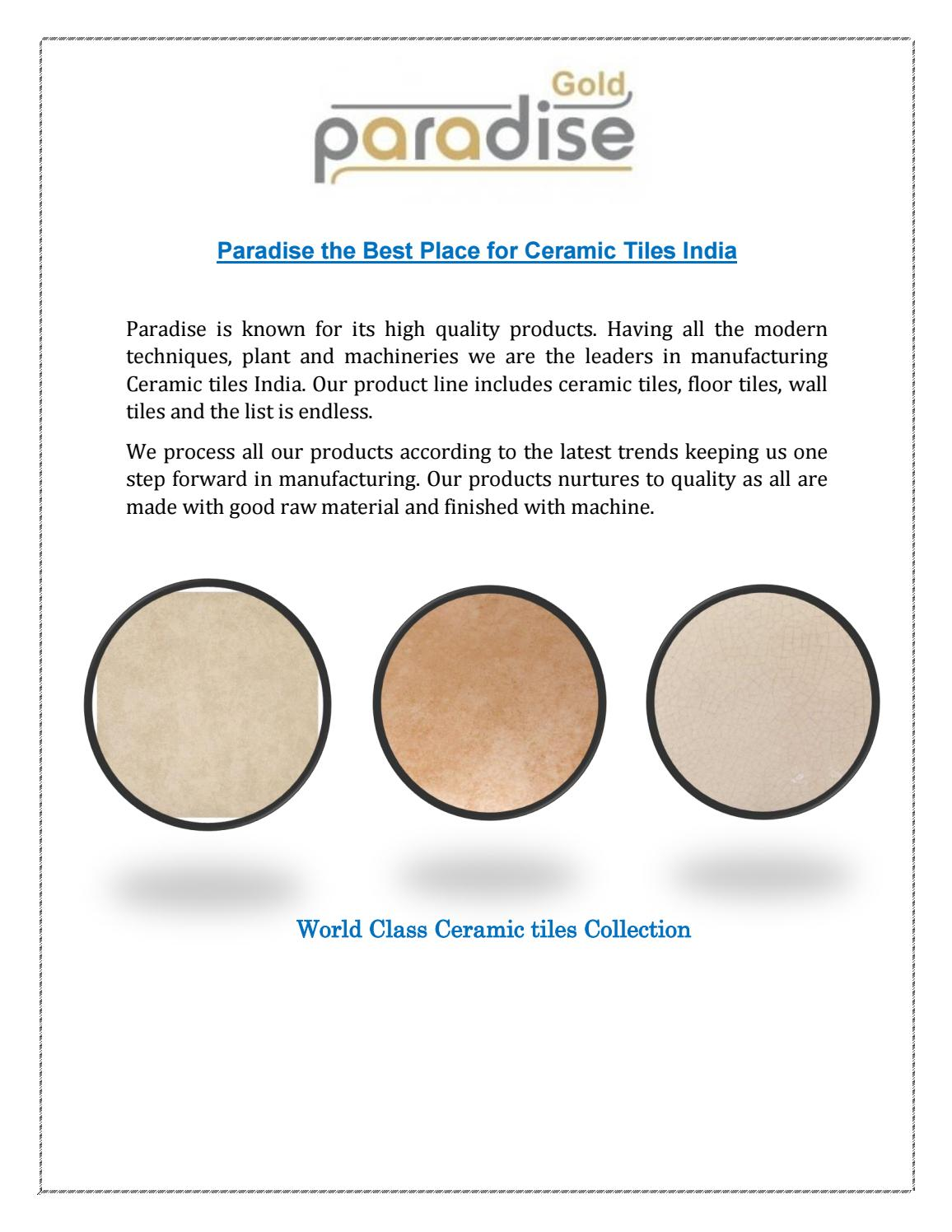 Paradise Right Place For Modern Ceramic Tiles India By