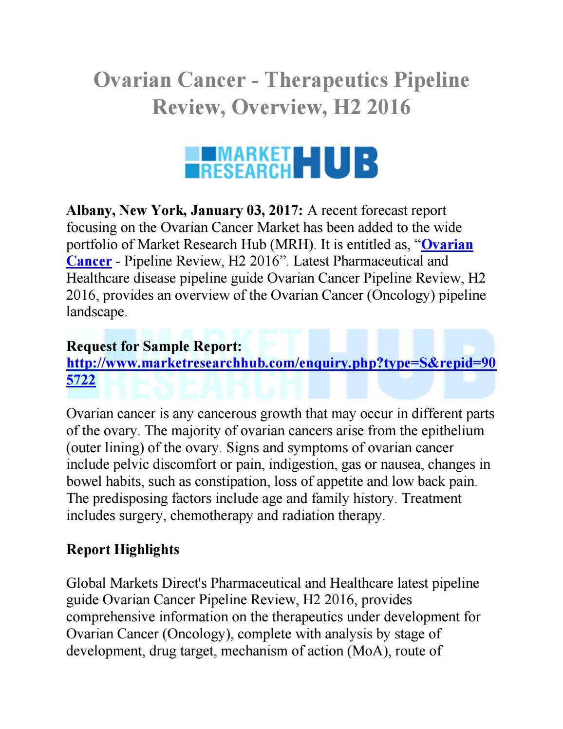 Ovarian Cancer Pipeline Review H2 2016 By Market Research Hub Issuu
