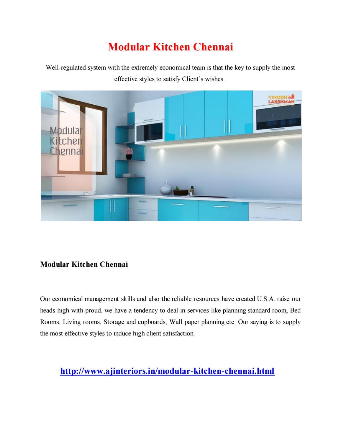 Modular kitchen chennai by saikrishram - Issuu