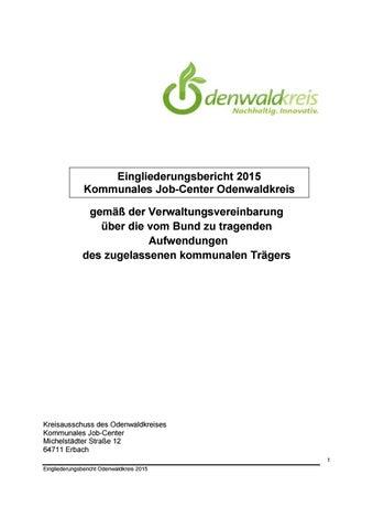 Eingliederungsbericht 2015 Odenwaldkreis Kommunales Job-Center by ...