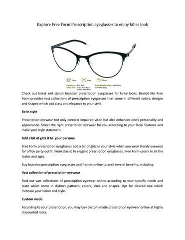 0b08364241 Explore Free Form Prescription eyeglasses to enjoy killer look by ...