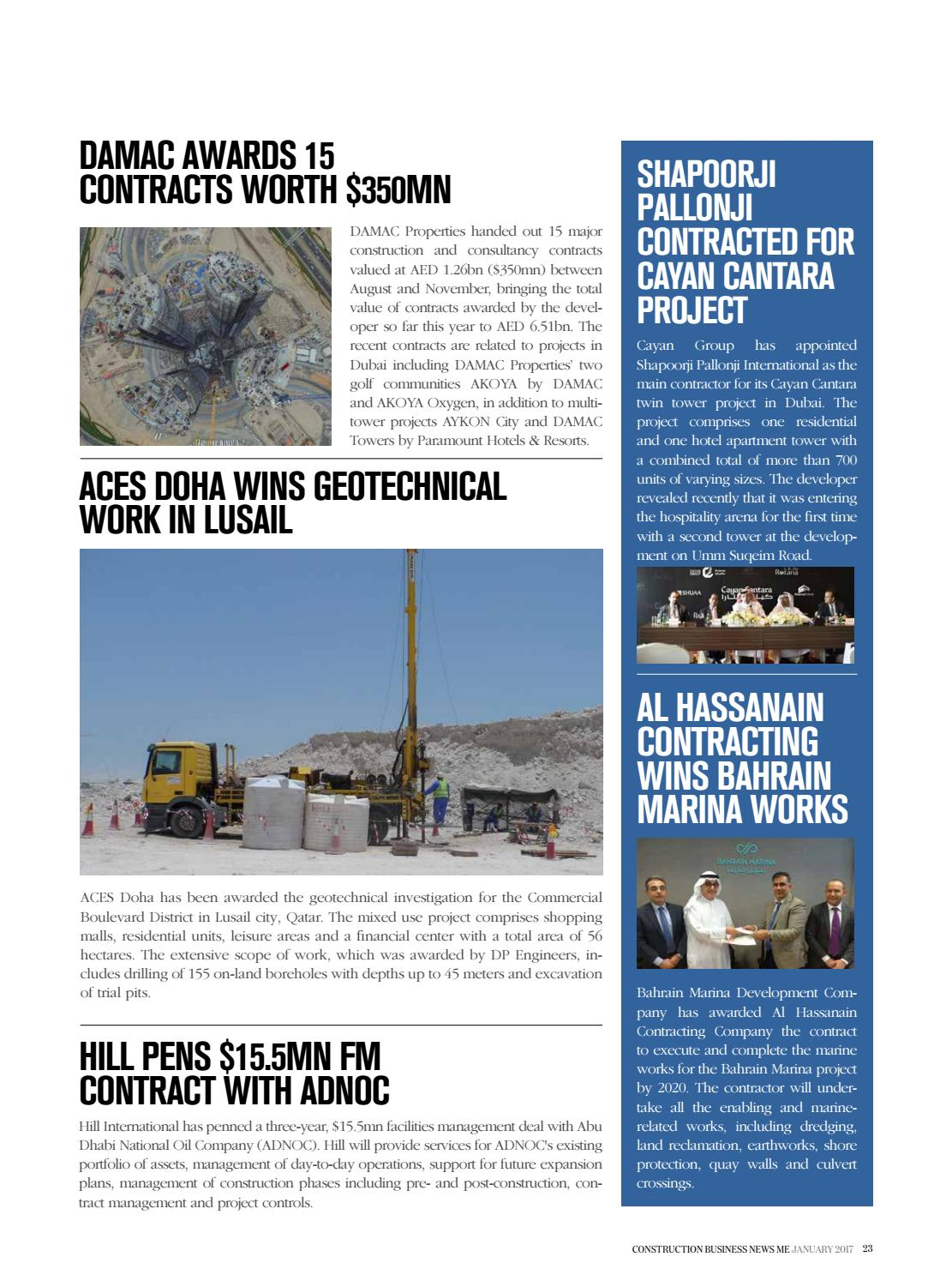Construction Business News ME - January 2017 by BNC