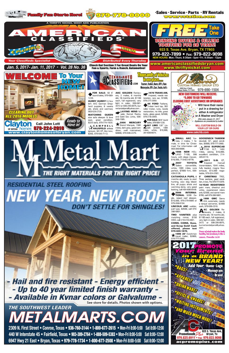 American Classifieds January 5th Edition Bryan College Station by ...