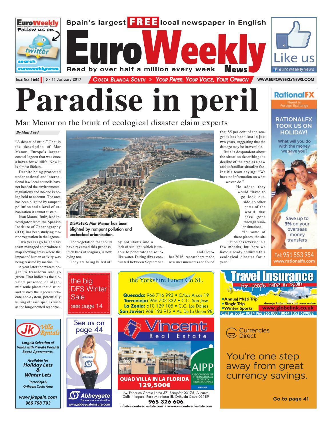 7669307248aa Euro Weekly News - Costa Blanca South 5 - 11 January 2017 Issue 1644 ...
