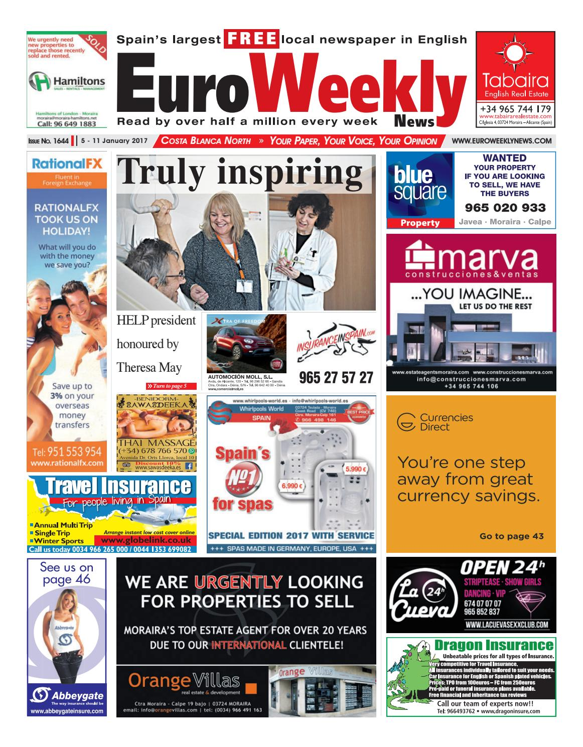 de0a7d4778a Euro Weekly News - Costa Blanca North 5 - 11 January 2017 Issue 1644 ...