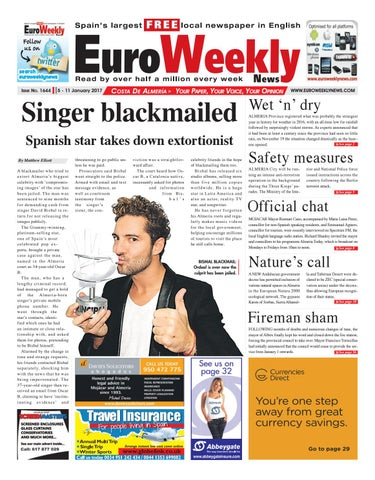 caf2d520c01 Euro Weekly News - Costa de Almeria 5 - 11 January 2017 Issue 1644 ...