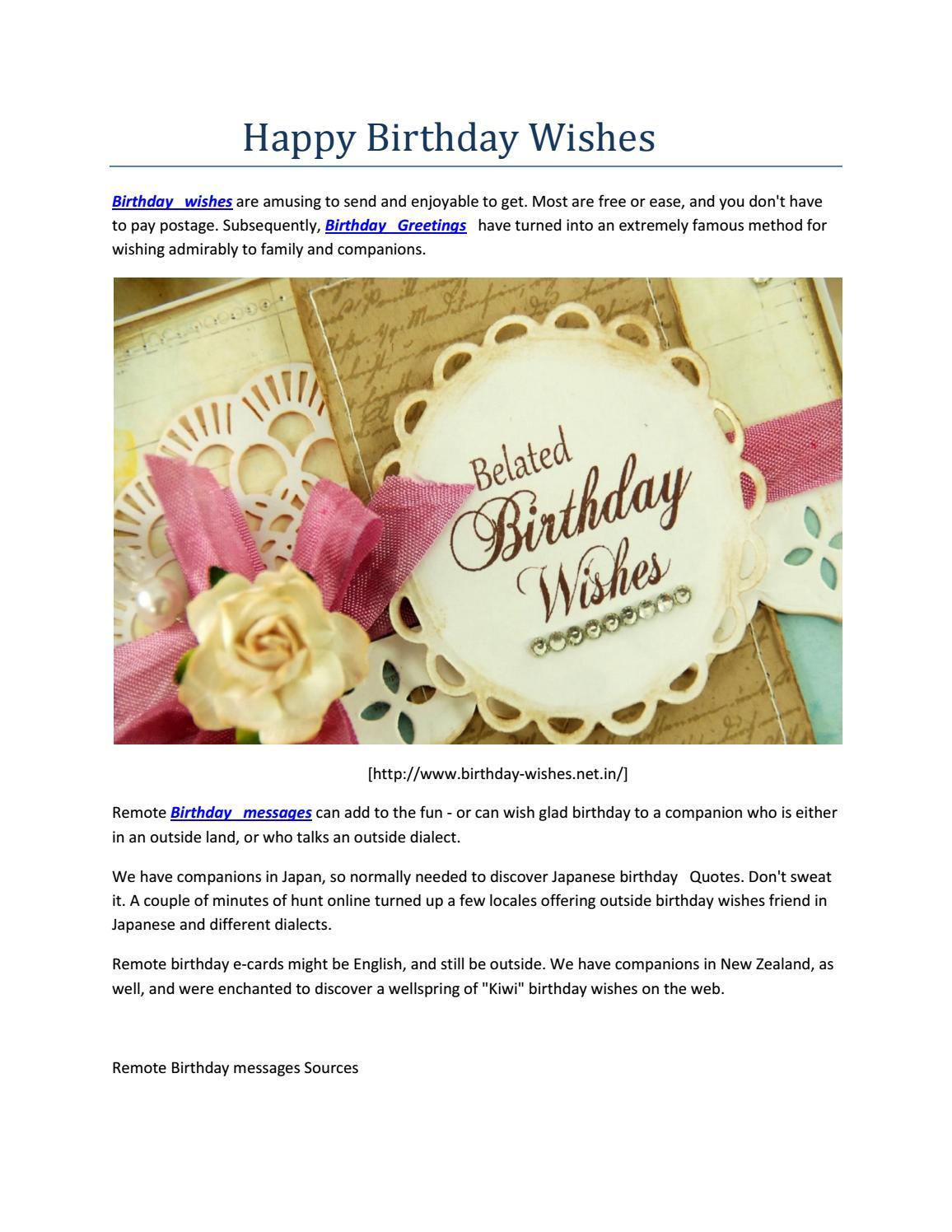 Happy Birthday Wishes By Wholesalecatalog