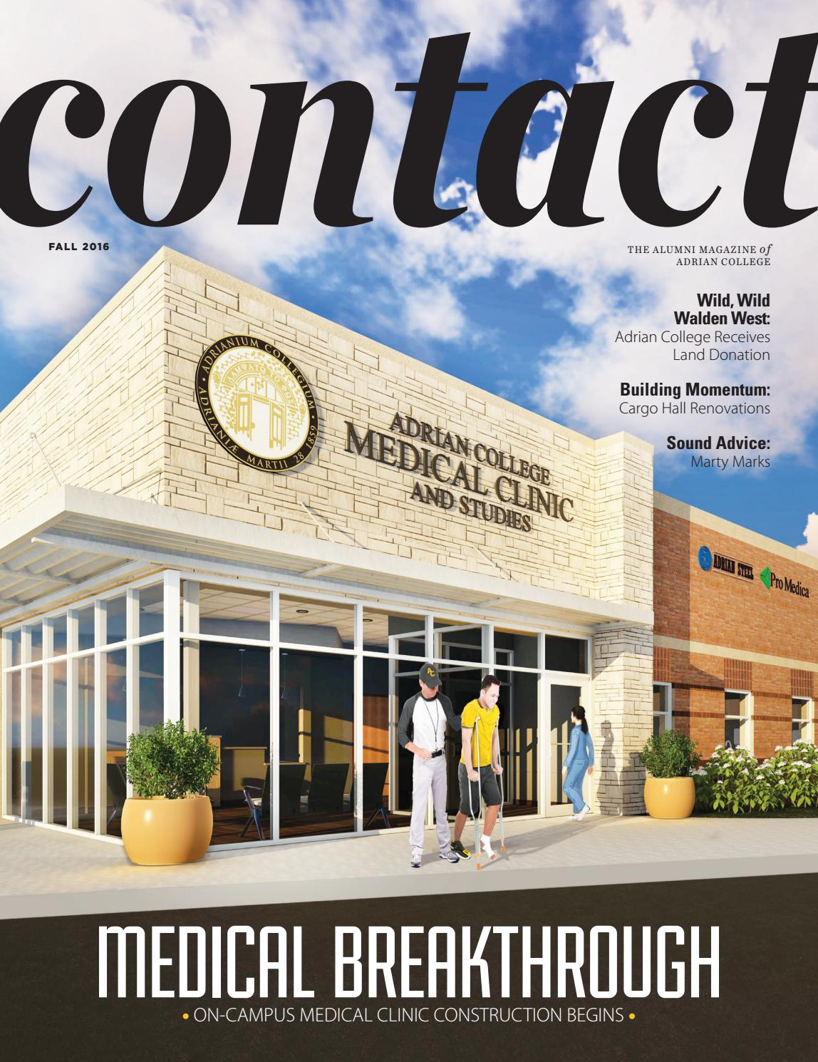 contact fall 2016 by adrian college - issuu
