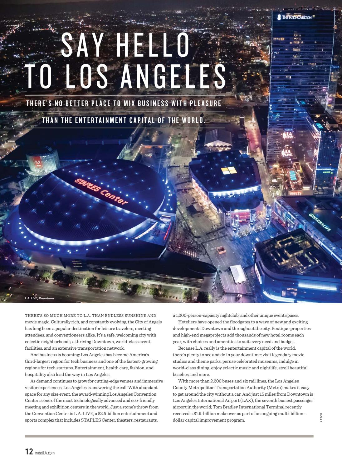 Los Angeles Meeting & Travel Professionals Guide by LAMCP