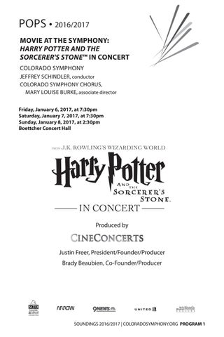 POPS • 2016 2017 MOVIE AT THE SYMPHONY  HARRY POTTER AND THE SORCERER S  STONE™ IN CONCERT COLORADO SYMPHONY JEFFREY SCHINDLER 74d67919acc8