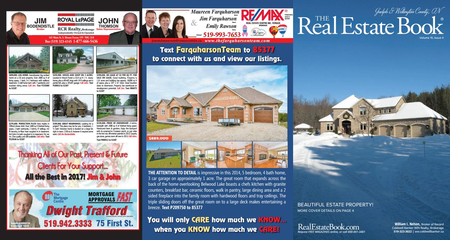 The Real Estate Book of Guelph & Wellington County by JGB Publishing ...