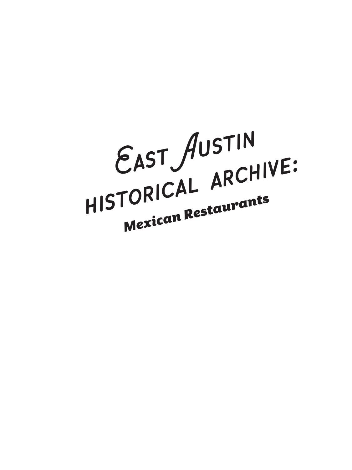 East Austin Historical Archive Mexican Restaurants By