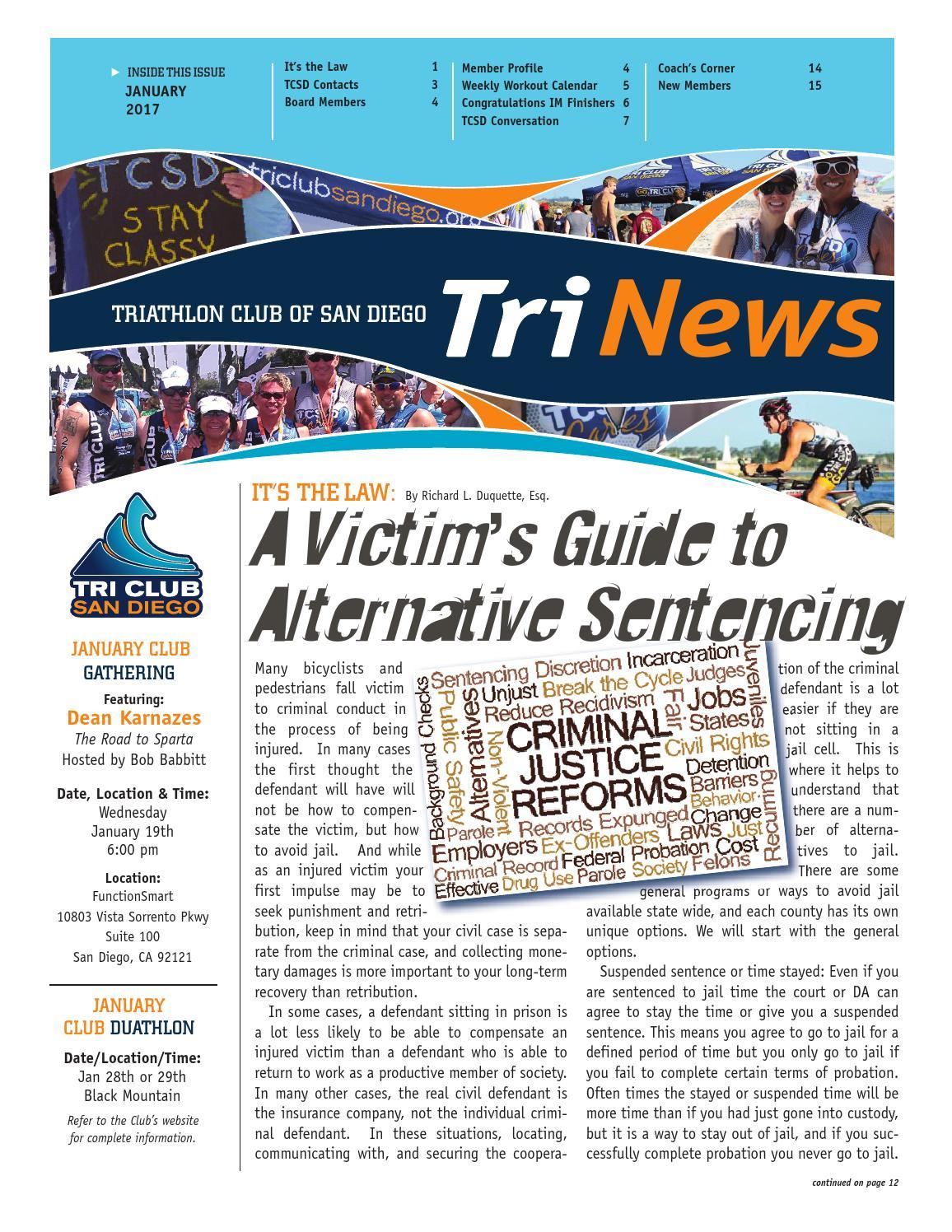 San Diego Acbs Fall Gathering: TCSD TriNews January 2017 By Triathlon Club Of San Diego