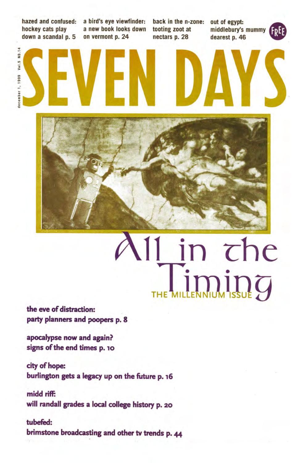 Seven Days, December 1, 1999 by Seven Days - issuu