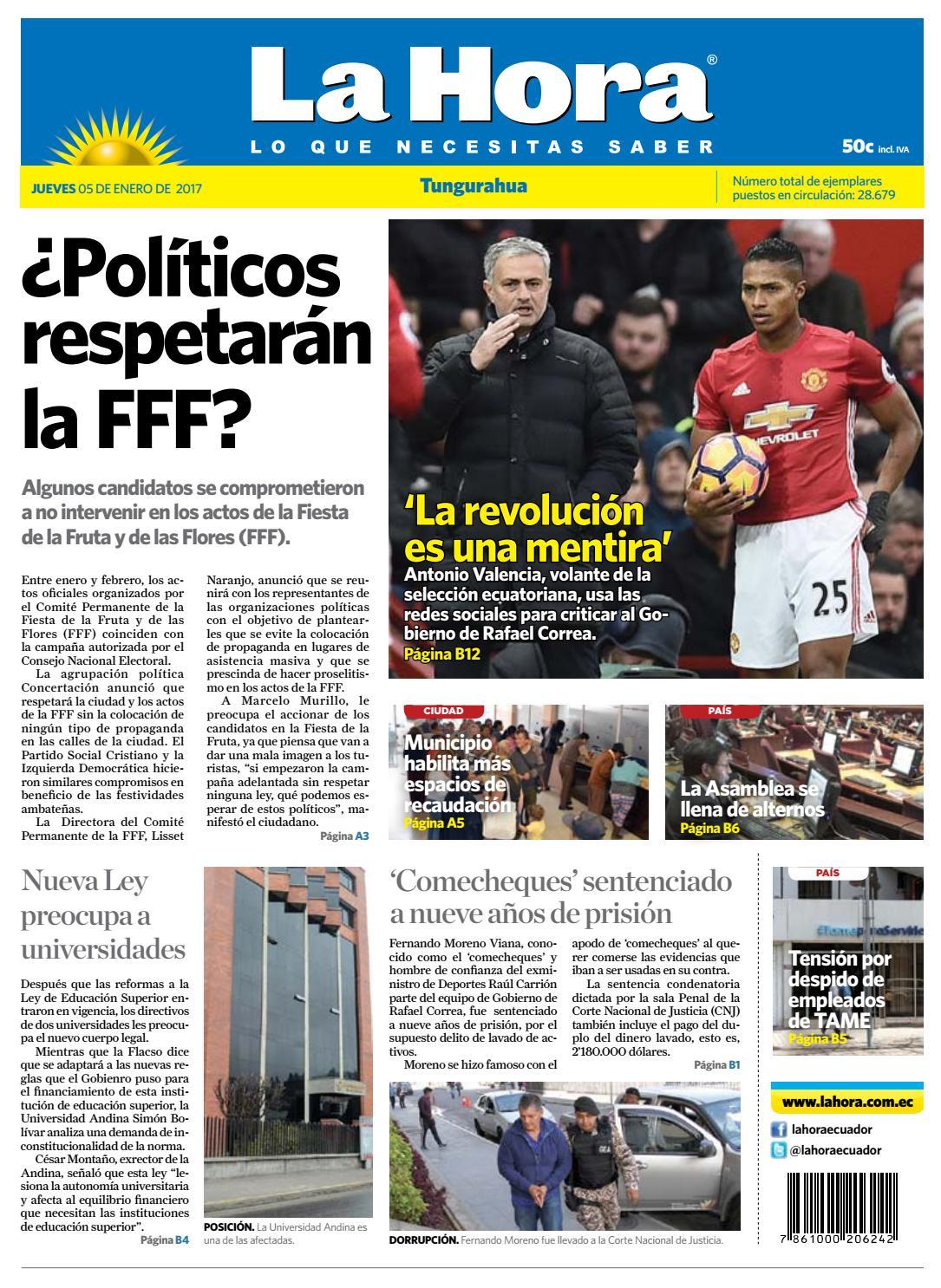 Ambato05enero2017 by Diario La Hora Ecuador - issuu