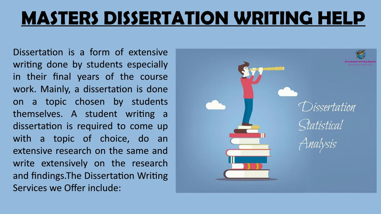 do masters students write a dissertation