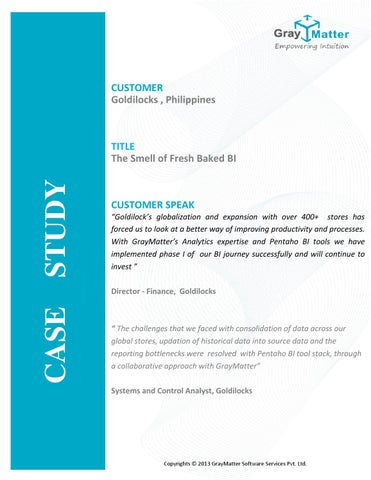 case study yedo department stores