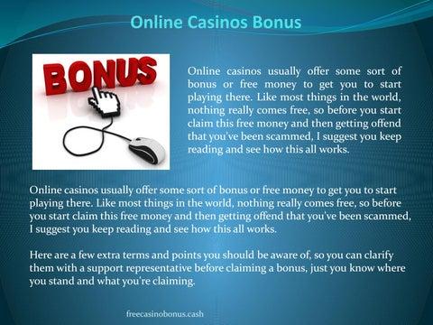 Online Casinos Bonus By Free Casino Bonus Issuu