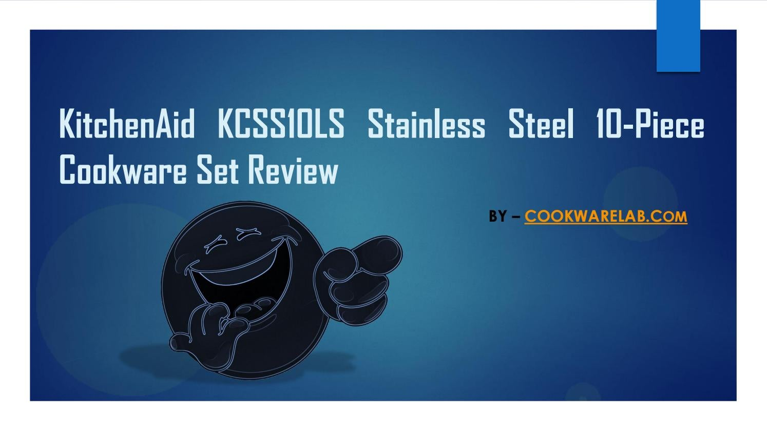 Kitchenaid kcss10ls stainless steel 10 piece cookware set review by ...