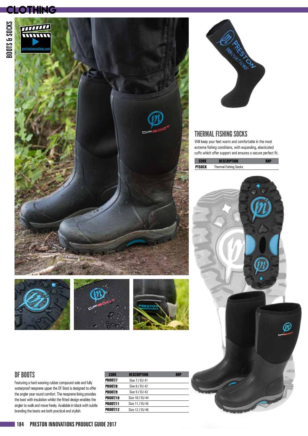 Neoprene upper SSP £80 Size UK 8 Preston Innovations DF Waterproof Boots