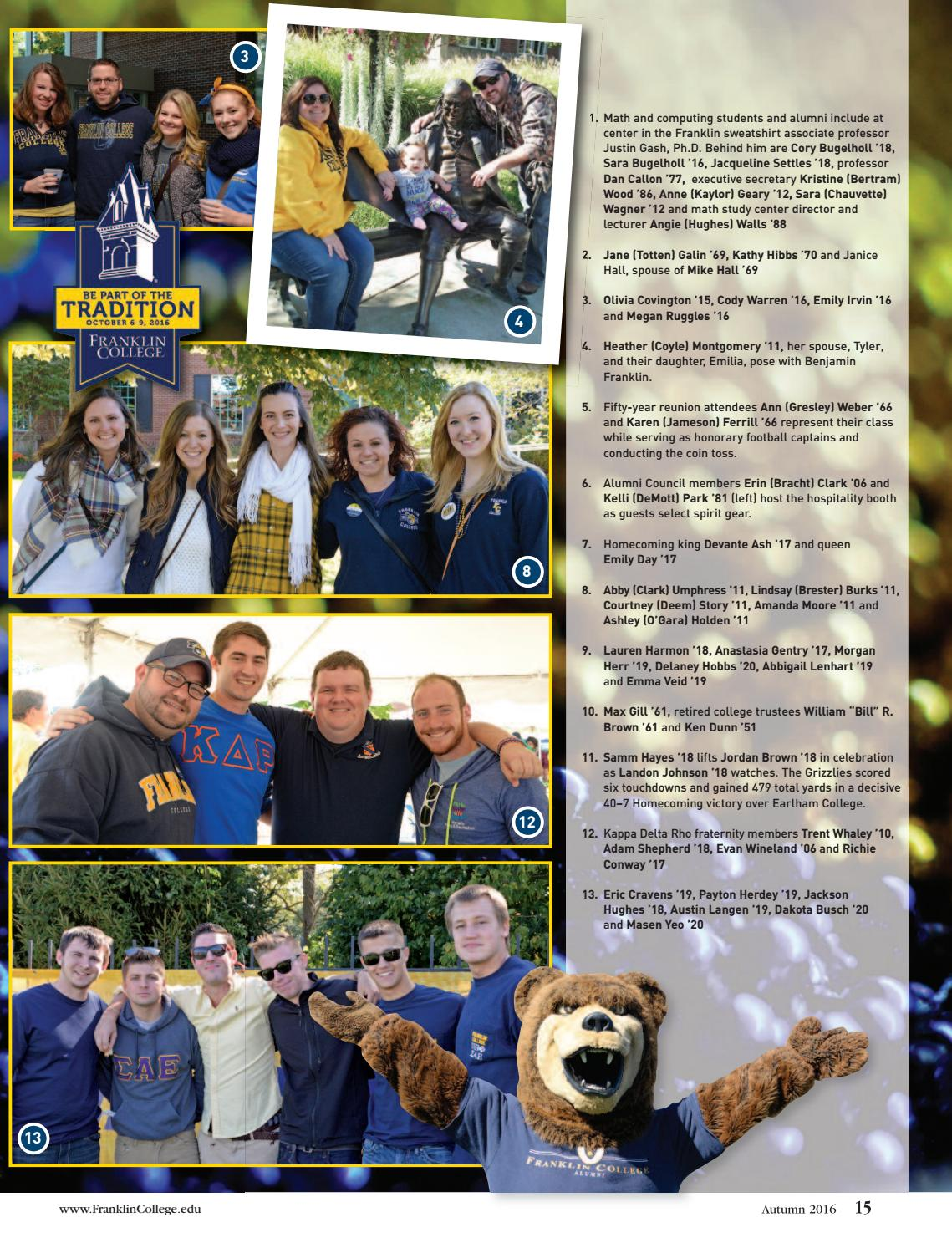 Franklin College Magazine Autumn 2016 by Franklin College