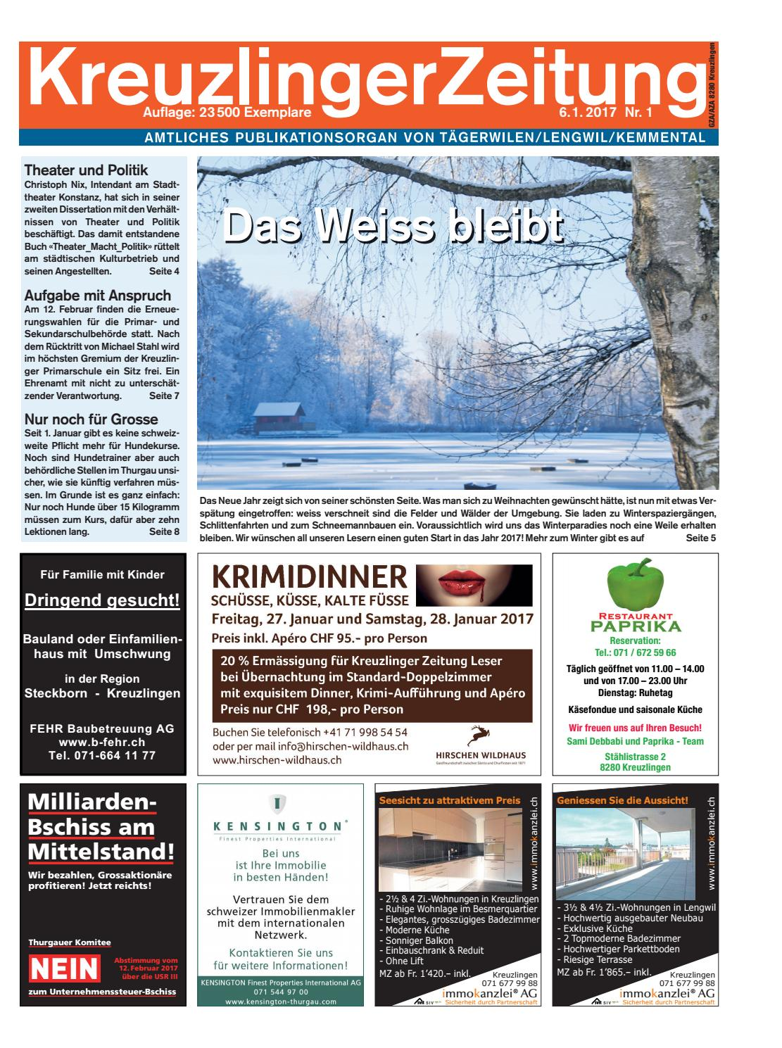 Kreuzlingerzeitung Klz 1 2017 By Kreuzlingerzeitung Issuu