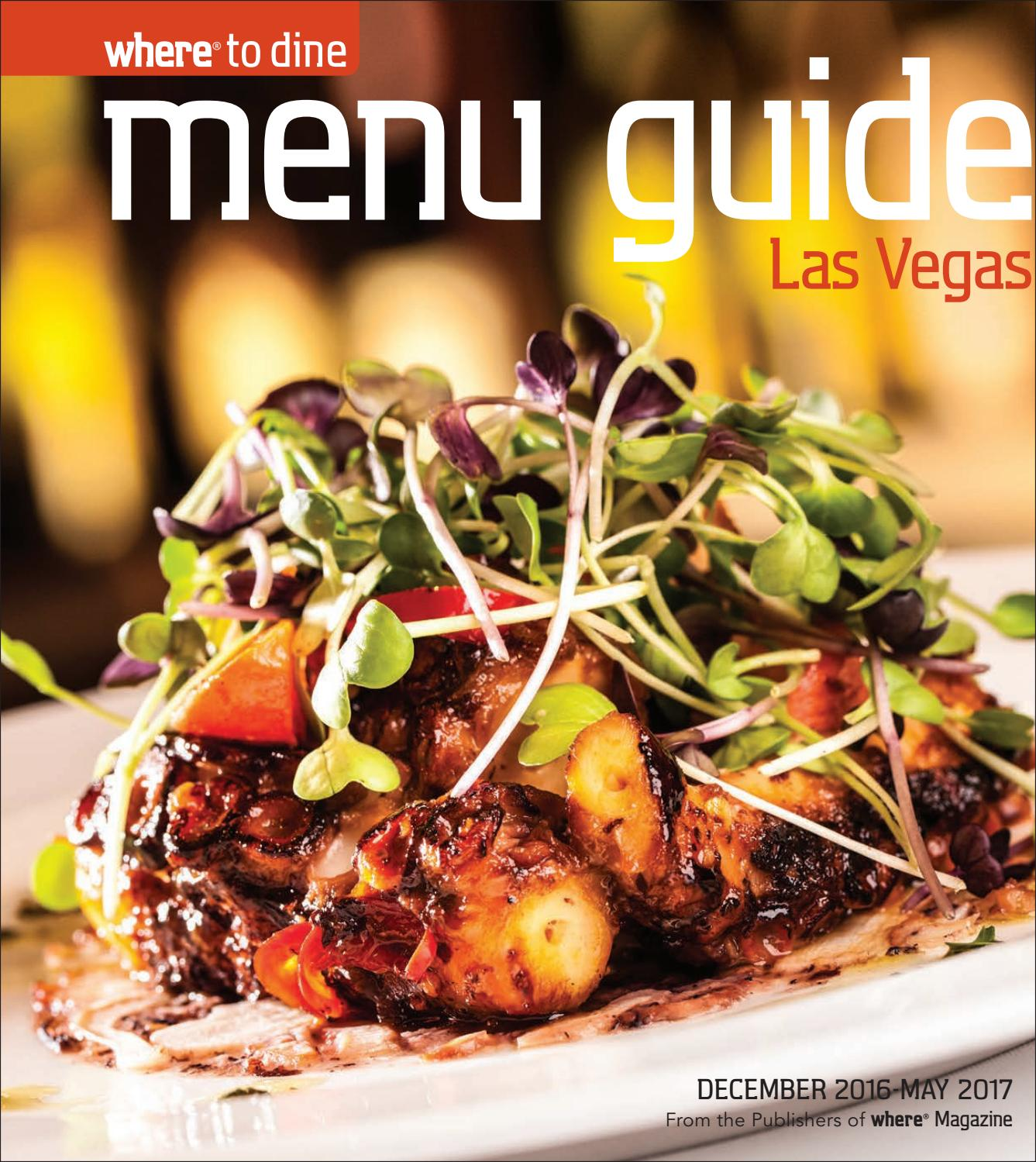 las vegas menu guide december 2016 may 2017 by morris media
