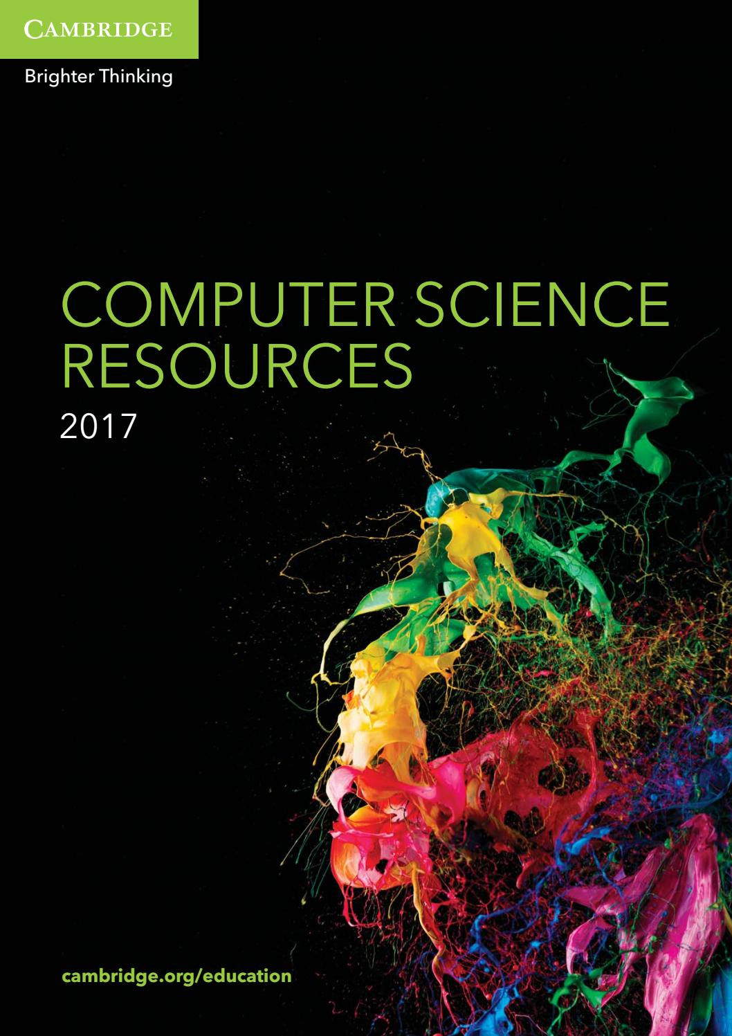 computer science resources catalogue 2017 by cambridge. Black Bedroom Furniture Sets. Home Design Ideas