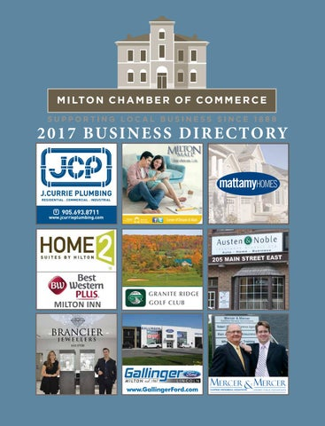 2017 Milton Chamber of Commerce Business Directory by Milton