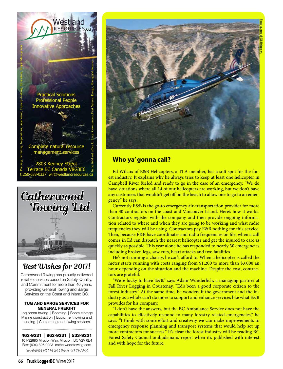 Truck LoggerBC, Winter 2017 - Volume 39, Number 4 by Truck Loggers