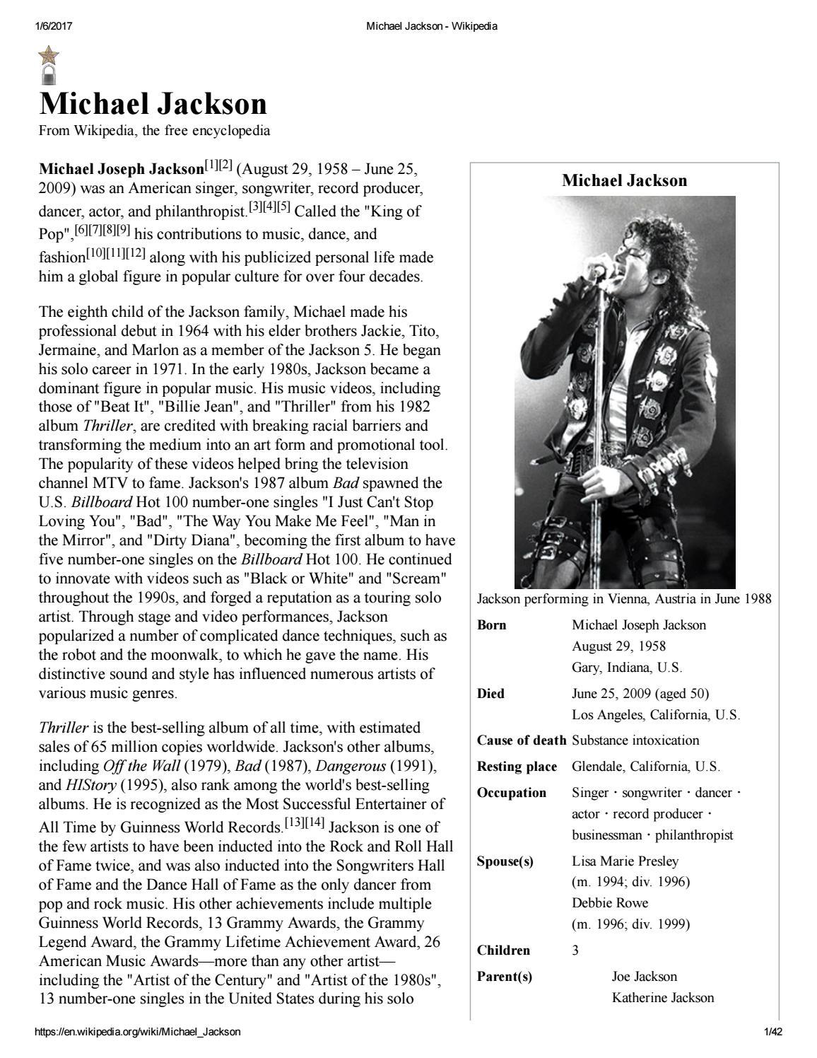 Michael Jackson Wikipedia by MJacksonidis - issuu
