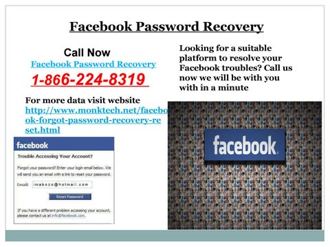 Call 1-866-224-8319 Facebook Rest Password Now Available all